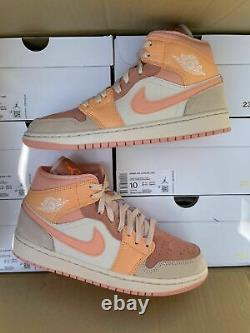 Jordan 1 Mid Apricot Orange Dh4270-800 Size6-12