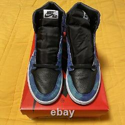 Jordan 1 Retro High Tie Dye Size 8.5w VNDS Off White Yeezy Bred Toe Sb Supreme