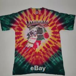 Lithuania Basketball Grateful Dead Tie Dye T-Shirt Adult L Cotton Vintage