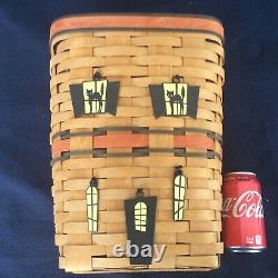 Longaberger Waste Basket Haunted House 5 Tie Ons Halloween NEW