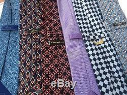 Lot Of 6 Brioni And Stefano Ricci Silk Ties