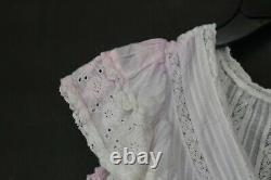 Love Shack Fancy Womens Multi Tie Dye Gwen Ruffle Eyelet Mini Dress $395 XS