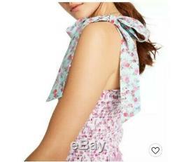 LoveShackFancy Target Adeline Tie-Strap Smocked Ruffle Dress XS