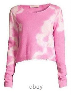 LoveShackFancy Womens Shane Tie Dye Distressed Wool & Cashmere Sweater