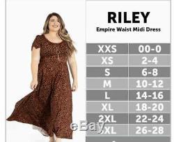 LuLaRoe XL RILEY DRESS EMPIRE MIDI GALAXY TIE DYE BLACK PINK PURPLE BLUE EASTER