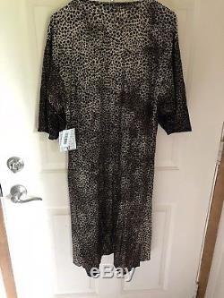 Lularoe Small Elegant Shirley Leopard Cheetah Kimono Wrap Gold Tie Dye NWT New