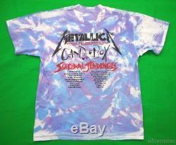 METALLICA Vintage T Shirt 90's CONCERT 1994 Binge & Purge TOUR Tie Dye ROCK BAND