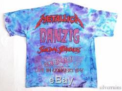 METALLICA Vintage T Shirt 90's CONCERT 1994 TOUR Tie Dye PUSHEAD EAGLE danzig