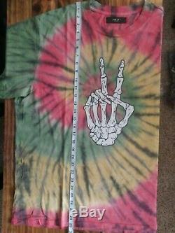 MIKE AMIRI Bones Peace Tie Dye Cotton-Jersey T-Shirt Tee SZ XXLARGE