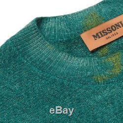 MISSONI Mens Tie-Dye Color-Block Alpaca Wool Sweater IT48/M FW19 $1165