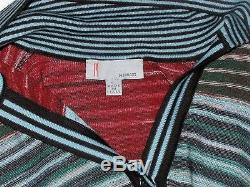MISSONI Wool Blend Sweater Dress with Tie Belt-Size 4-Italy