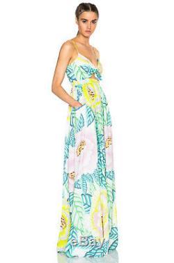 Mara Hoffman Flora Stone Cutout Front Tie Tropical Floral Maxi Dress 2 4
