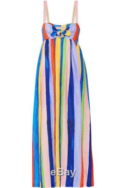Mara Hoffman rainbow striped tie front maxi NWT SIZE 2
