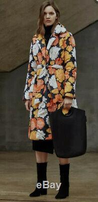 Marimekko Katjuska Floral Belted Puffer Coat Sz 42 NEW