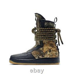 Men Nike Air Force 1 Sf Af1 Hi Black Camo Boots Army Reflective Aa1128-004 9.5