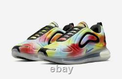 Men's Nike Air Max 720 Tie Dye Multi Color Running Shoes CK0845-900 Size 15