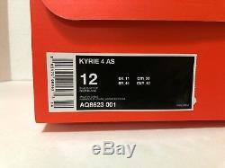 Men's Nike Kyrie 4 All Star Tie Dye Black White Blue Pink AQ8623 001 Size 12