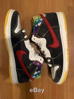 Mens Nike Dunk Mid Pro Sb Tie Dye 314383-461 Size 9.5