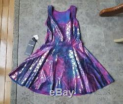 Mermaid Tie Dye vs Pink Tie Dye Inside Out Dress IOD Medium Black Milk NWOT