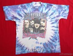 Metallica Vintage T Shirt 1990's Concert Tour Tie Dye Lollapalooza 1996