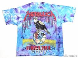 Metallica Vintage T Shirt 90's 1990's Concert Tour Pushead Eagle Tie Dye XL