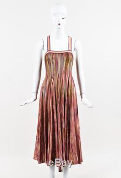 Missoni Multicolor Knit Striped Tie Back Dress SZ 38