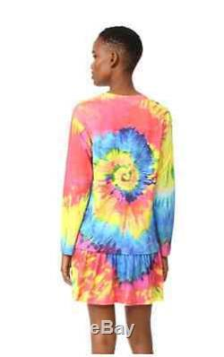 Moschino Couture X Jeremy Scott Multicolor Tie-dye JERSEY Elephant Tshirt Ganesh