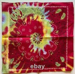 Multicolor #1 Tie Dye Bandana 100% Cotton 22x22 Hippie Retro Face Mask Bandanna