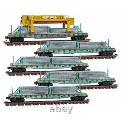 N Micro Trains 993 02 170 UP Union Pacific weathered Concrete Tie Loader 5 pk