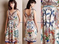 NEW Anthropologie Tied Acionna Silk Dress by Collette Dinnigan sz 2P Gorgeous