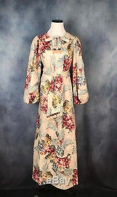 NEW Authentic Zimmermann Kali Hibiscus Tie Casual Maxi Dress AU 0 1 2