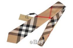 NEW BURBERRY MEN'S CURRENT CLASSIC CHECK 100% SILK TIE WithORIGINAL PLASTIC BAG