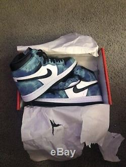 NEW DS Air Jordan 1 Retro High OG Tie Dye Blue With Receipt! 7With5.5M/5.5Y
