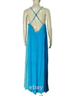 NEW FREE PEOPLE Sz M ENDLESS SUMMER MIXIN IT UP MULTI COLOR GAUZE MAXI DRESS