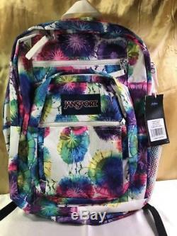 NEW Jansport Big Student Multi Tie Dye Large Backpack Schoolbag C