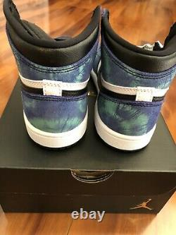 NEW Preschool Air Jordan 1 Retro High OG Tie Dye CU0449 100 PS Size 12c