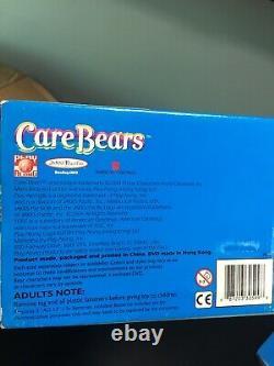 NEW TALKING 2004 TCFC Care Bears 13 Plush TRUE HEART BEAR Tie Dye Rare Dvd Box