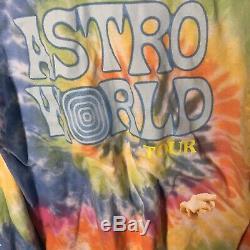 NEW Travis Scott Astroworld Wish You Were Here Tour Merch Tie Dye LS T-Shirt L