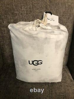NEW UGG Palisades King Size Duvet Bedding Cover Tie Dye Snow Off White Gray $250
