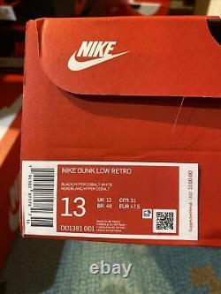 NIKE DUNK LOW RETRO Hyper Cobalt US DD1391-001 Size Men's 13 Authentic