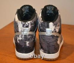 NIKE Wmn's US 5.5 EU 36 DUNK SKY HI Tie Dye Hidden Wedge Sneakers 543258-004