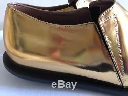 NWOB MARNI Gold and Black Pointed Toe Bow Tie Mocassino Shoes 39/9