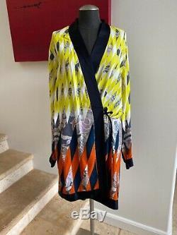 NWOT DRIES VAN NOTEN Printed Viscose Wrap Dress Size Large