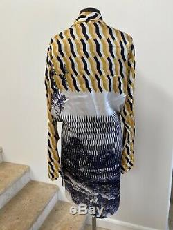 NWOT DRIES VAN NOTEN Printed Wrap Dress, Size Large