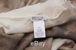 NWT $2195 Brunello Cucinelli 100% Cashmere Metallic Glittered Tie-Dye Scarf A186