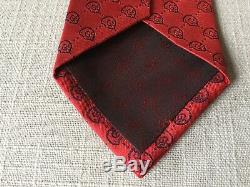 NWT $220 GUCCI Tie Interlocking GG Logo Multicolor 58 X 2.6 GUCCISSIMA Red Navy