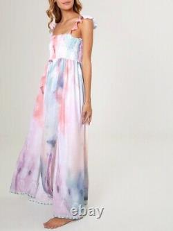 NWT AGUA BENDITA Leandra Tie Dye Maxi Dress Small