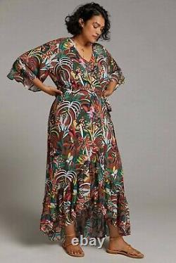 NWT Anthropologie Farm Rio Fiesta Wrap Maxi Dress Sz 1X