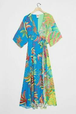 NWT Anthropologie Farm Rio Tahiti Wrap Maxi Dress Small