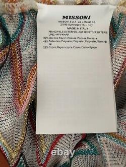 NWT Authentic Missoni Mare Wide -Leg Chevron Coverup Zig-zag Pants SZ 42 IT $830